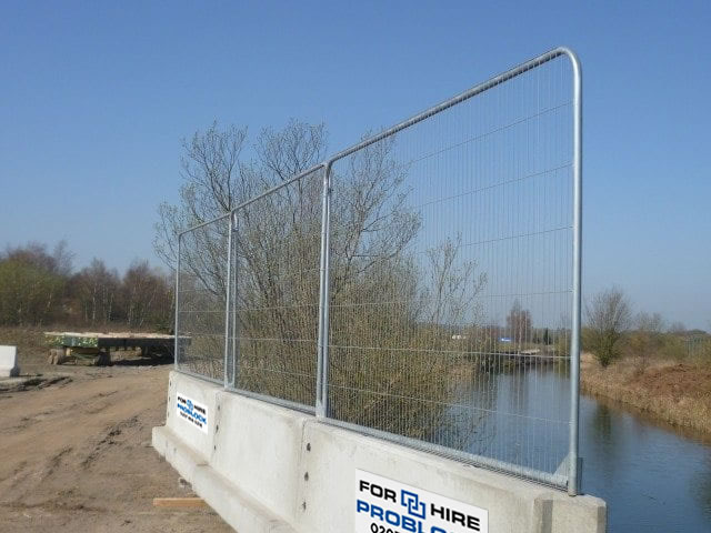 ProBlock 3 Meter Concrete Barrier With Heras Fencing