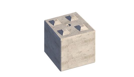 PBS Interlocking Concrete Lego Blocks X 4