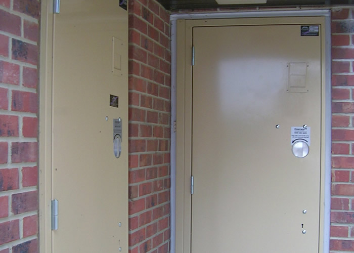 Keyless Steel Security Door