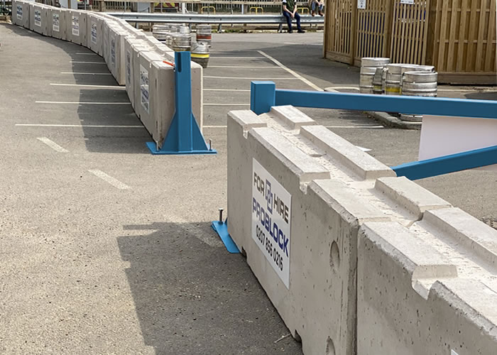 ProBlock Concrete Barrier Metal Gates